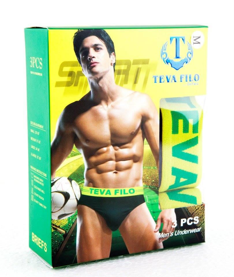 [TEVA FILO] Men's Briefs Underwear - TF314  (3 pcs Pack Briefs)