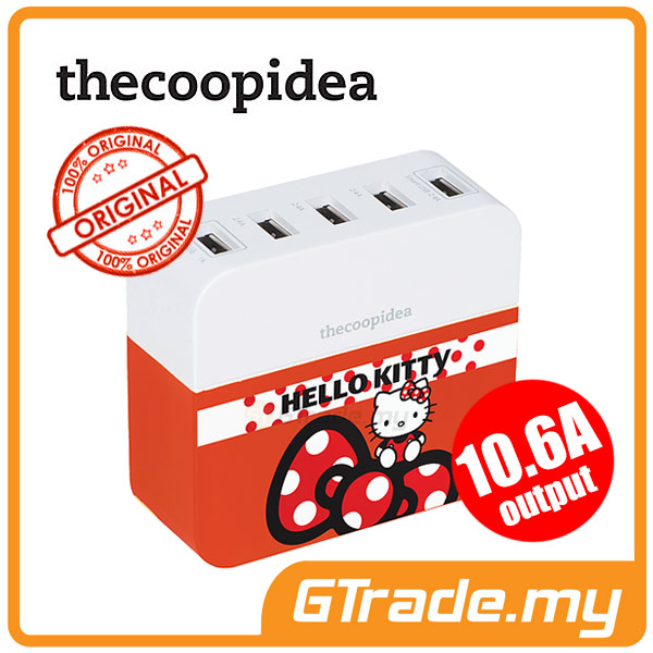 THECOOPIDEA 10.6A Charger Station Hello Kitty RB Apple iPhone 5S 5C 4S