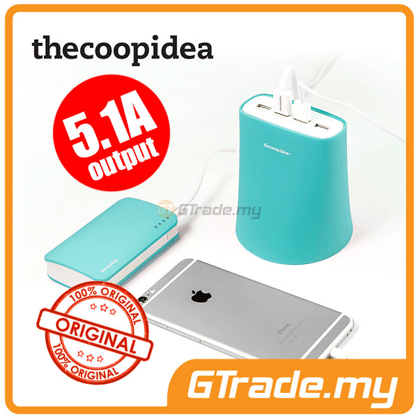 THECOOPIDEA 5.1A 4USB Charger Station BL Apple iPad Mini Retina 3 2 1