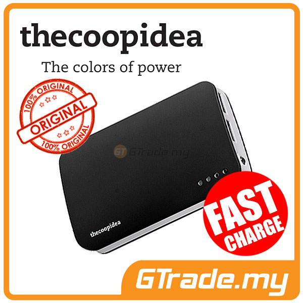 THECOOPIDEA 9000 mAh PowerBank Touch Light 2.4A Fast Charger | Black