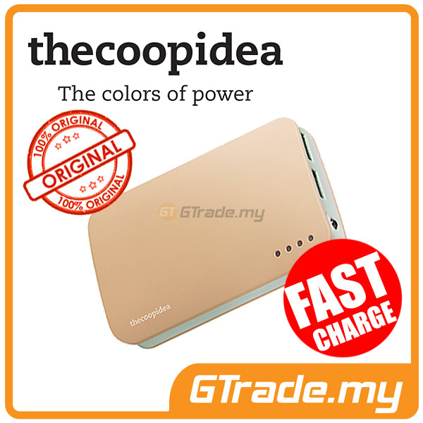 THECOOPIDEA 9000 mAh PowerBank Touch Light 2.4A Fast Charger | Gold