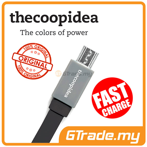 THECOOPIDEA Micro USB Fast Charger Cable BK Sony Xperia Z3+ Z1 Z2 ZR Z