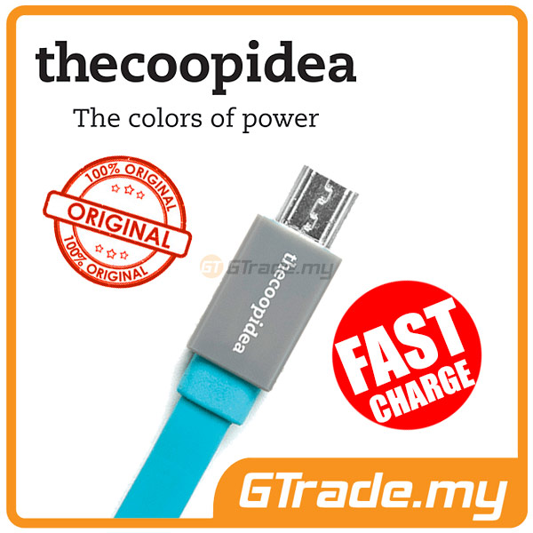 THECOOPIDEA Micro USB Fast Charger Cable BL Samsung Galaxy S4 S3 S2