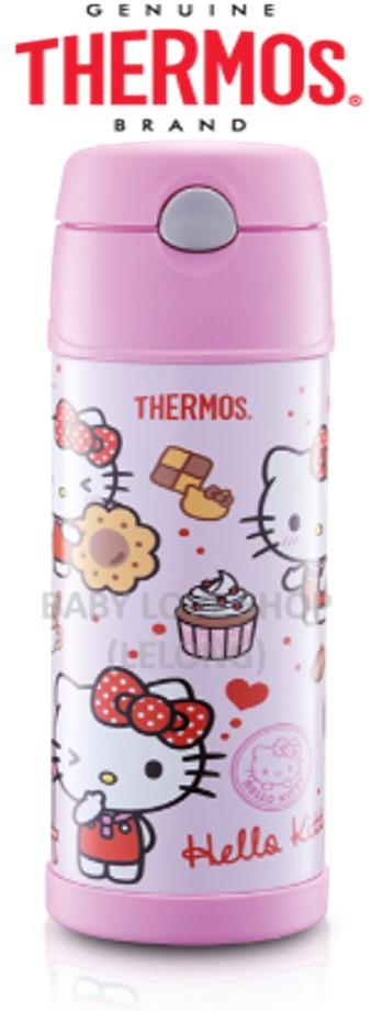 Thermos Hello Kitty 480ml Ice Cold Straw Drinking Bottle