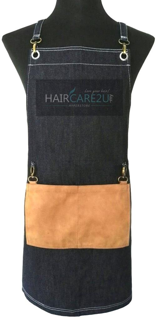 Thick Sleeveless Korean Style Denim Jeans Apron for Barber Salon Chef