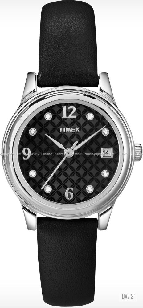 TIMEX T2N450 (W) Elevated Classics Crystal leather strap black