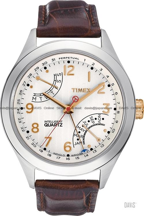 TIMEX T2N504 (M) Intelligent T-Series Perpetual leather strap cream