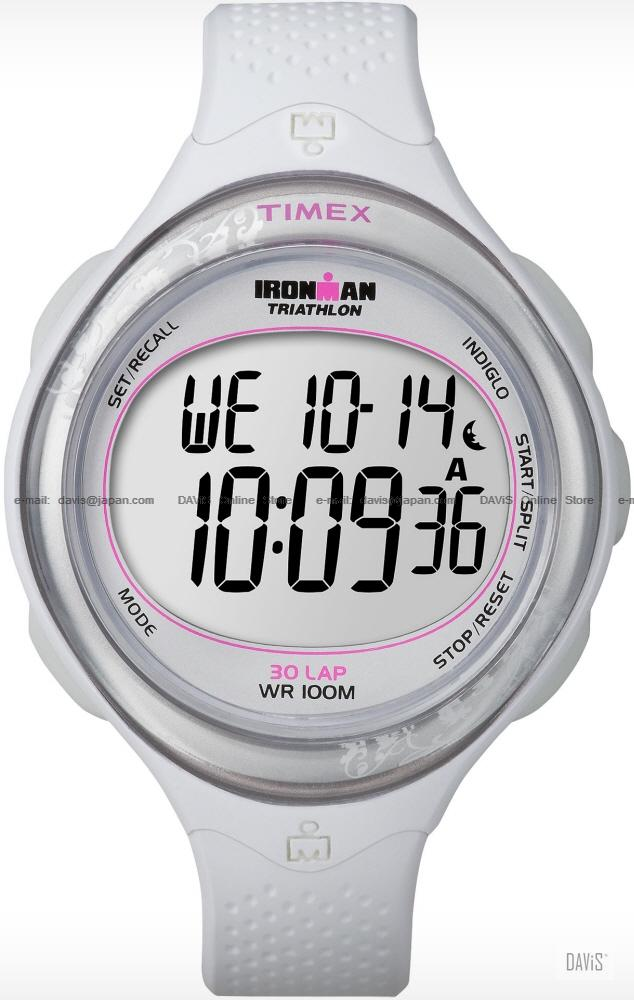 TIMEX T5K601 (W) IRONMAN Triathlon 30-Lap resin strap white