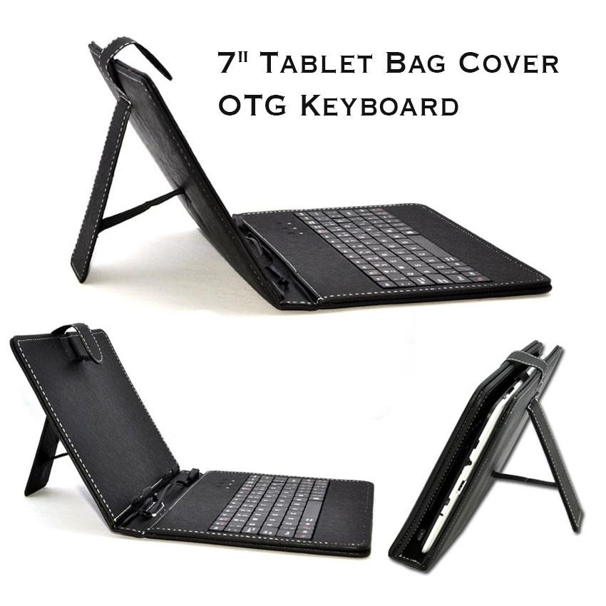 Tinytech 7inch Bag Cover with OTG Keyboard (Black)