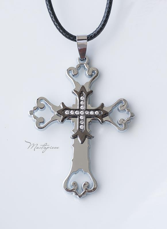 Titanium Steel Cross pendant necklace - TC1s