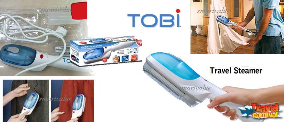 TOBI SUPER Electric Portable Steam Brush! Clean & Freshen Fabrics.Sofa