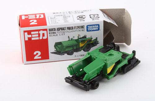 Tomy Tomica #2 - Hanta Asphalt Paver F1741WZ Construction Work NEW