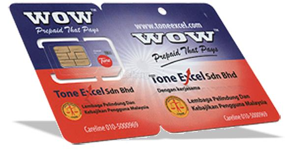 Tone Excel Tune Talk Sim Card