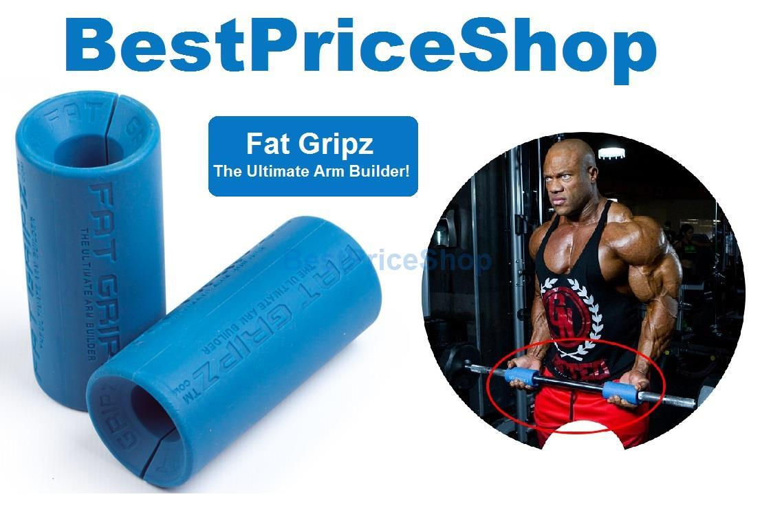 Top Grade Fitness Gym Fat Grip Dumbbell Barbell Olympic Bar Hand Gripz