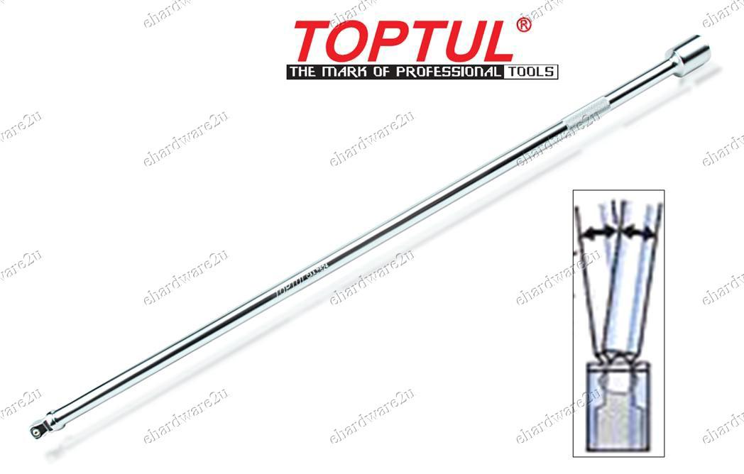 TOPTUL 1/2'DR Wobble Extra Long Extension Bar 24inch (CAAJ1624)