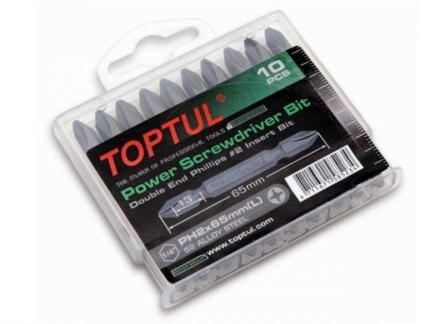 TOPTUL GAAW1001 10PCS PH2 Power Screwdriver Bit Set