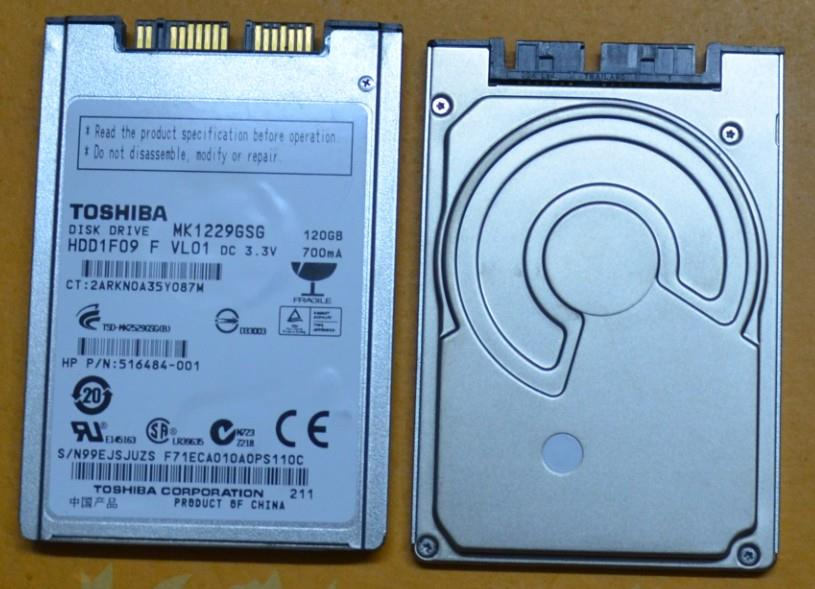 Toshiba 120GB 1.8' Internal Hard Drive MK1229GSG