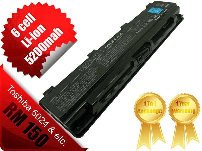 NEW Toshiba 5024 Satellite C850 L800 Pro C800 Pro L850 Laptop Battery