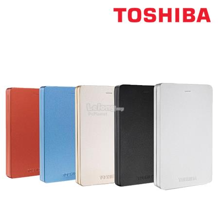 Toshiba Canvio Alumy USB 3.0 Hard Drive 1TB RED/BL/BLK/WH