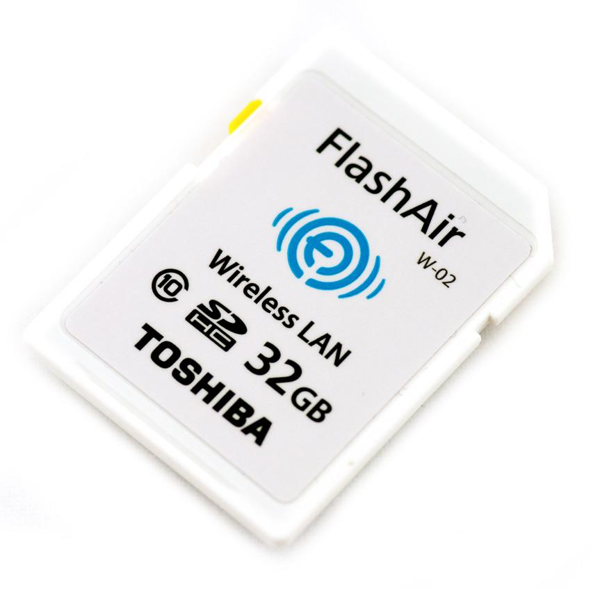 Toshiba FlashAir WIFI SDHC Card 32GB Memory Card