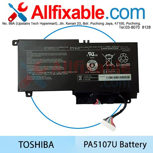 Toshiba Satellite PA5107U S40T-A L40-A L55T P50 P55 S55 Series Battery