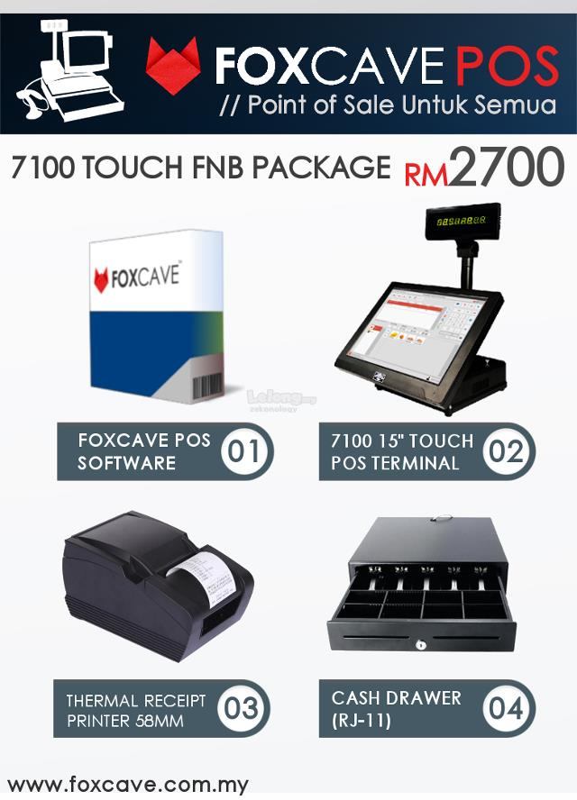 Touch Screen FnB Point of Sale - Foxcave POS System For Restaurant