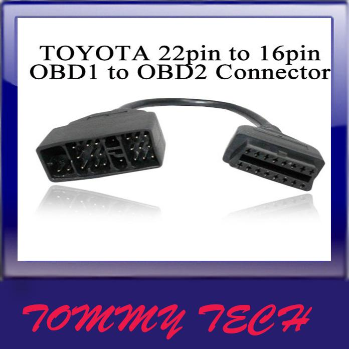 TOYOTA 22pin to 16pin OBD2 Cable