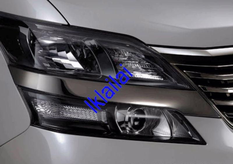 Toyota Alphard `08 ANH-20 Head Lamp Cover Black Chrome