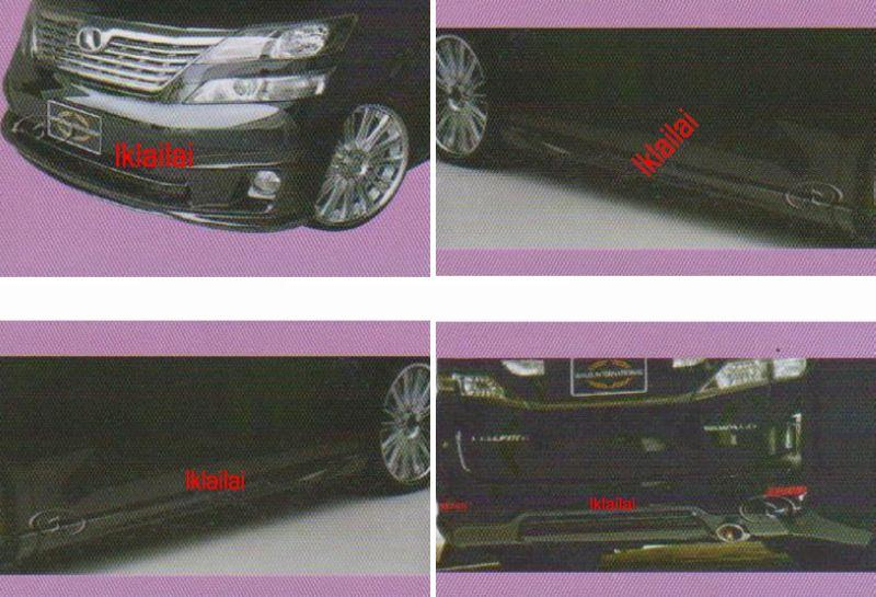 Toyota Alphard `08/ Vellfire '09 Wald Style Body Kit [Skirting+Panel]
