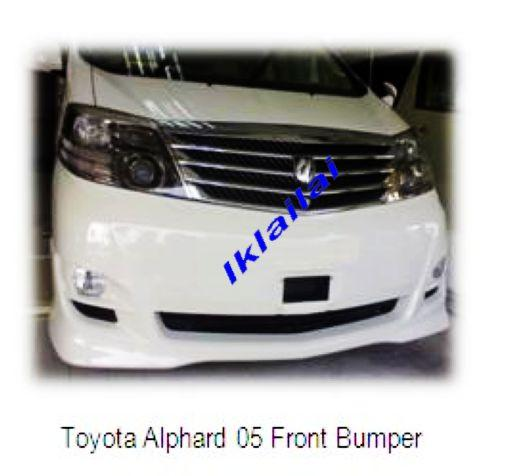 Toyota Alphard 2005 Facelift to Aeras Style Front Bumper + Head Lamp