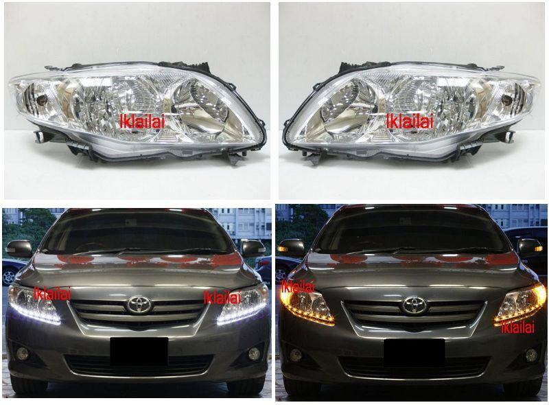 TOYOTA ALTIS '09 Crystal Head Lamp 2Function DRL R8