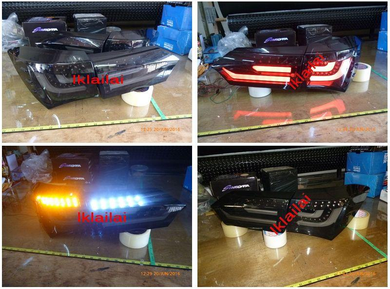 Toyota Altis 2014 LED Light Bar Tail Lamp Smoke Lens [4pcs/set]