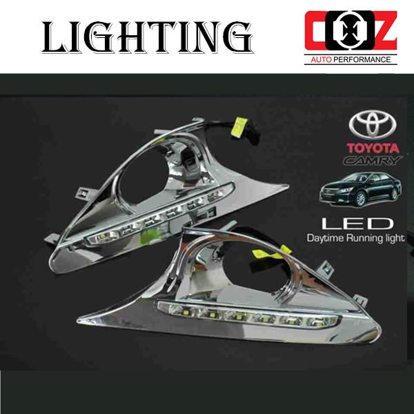 Toyota Camry 2012-2015 Fog Lamp Cover With LED Daylight DRL + Auto On
