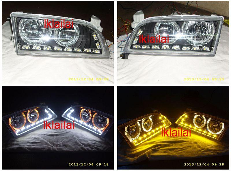 Toyota Corolla `92-98 AE100/101 LED Ring Head Lamp + DRL 2-function