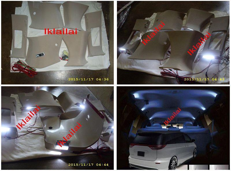 Toyota Estima '08 ACR50 Pillar Cover With White LED [6pcs]