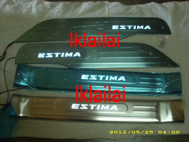 Toyota Estima ACR50 `08 Side/Door Sill Plate LED [4pcs/set]