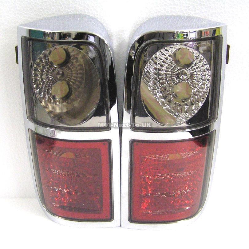 For Toyota Hiace Chrome Crystal Clear Rear Taillight 04~09   [UEV-OIJ]