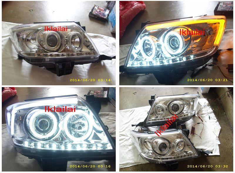 Toyota Hilux Vigo '11 CCFL Ring Projector Head Lamp LED DRL 2-Function