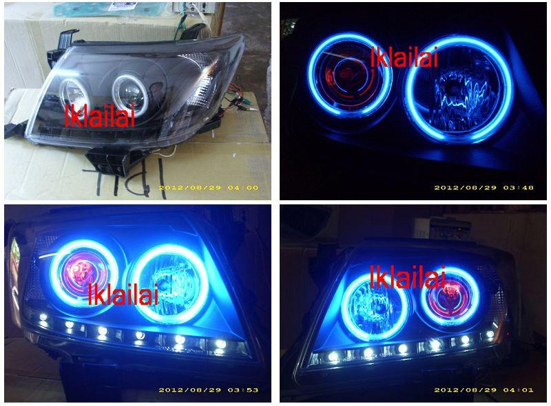 Toyota Hilux Vigo `11 Projector Head Lamp Red Angel Eye & blue CCFL Ri