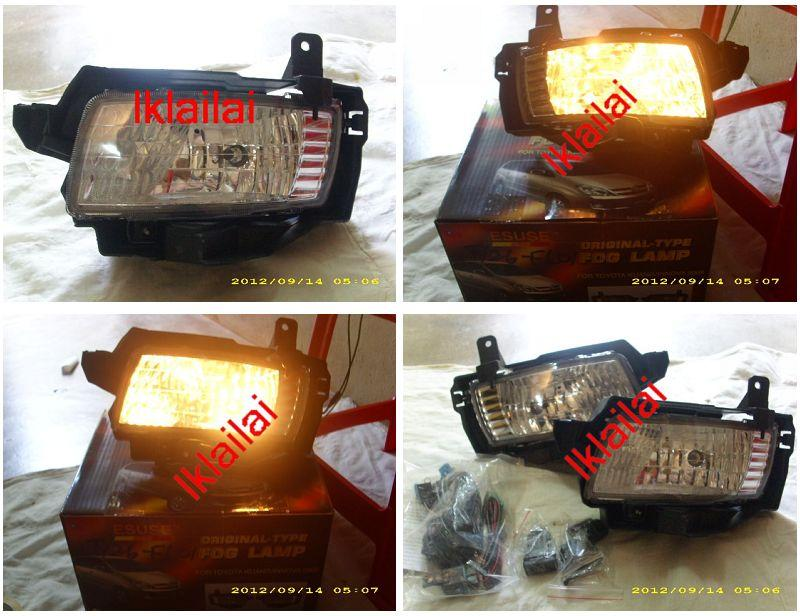 Toyota Innova 05 Crystal Fog Lamp with Wiring + Switch [TY26-FL01-U]