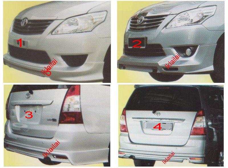 Toyota Innova '12 Front & Rear Skirt [OEM / Aerotech] [PPU Material]