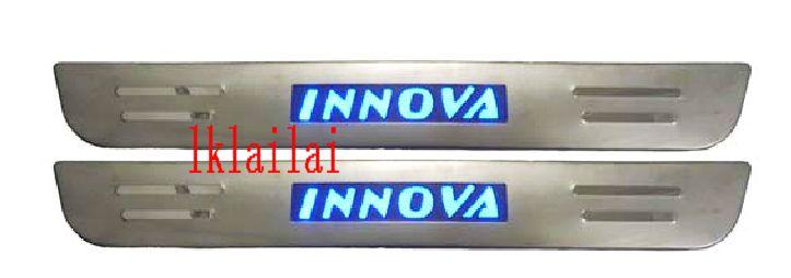 Toyota Innova Door / Side Sill Plate With LED Light [4pcs/set]