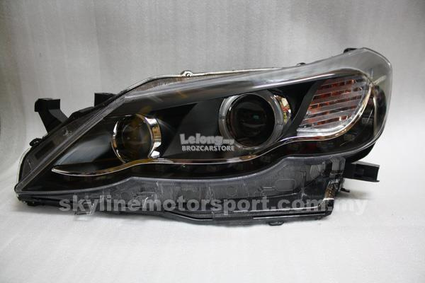 Toyota Marx X 2009-2012 Projector HEAD LAMP DRL Led Ring Black
