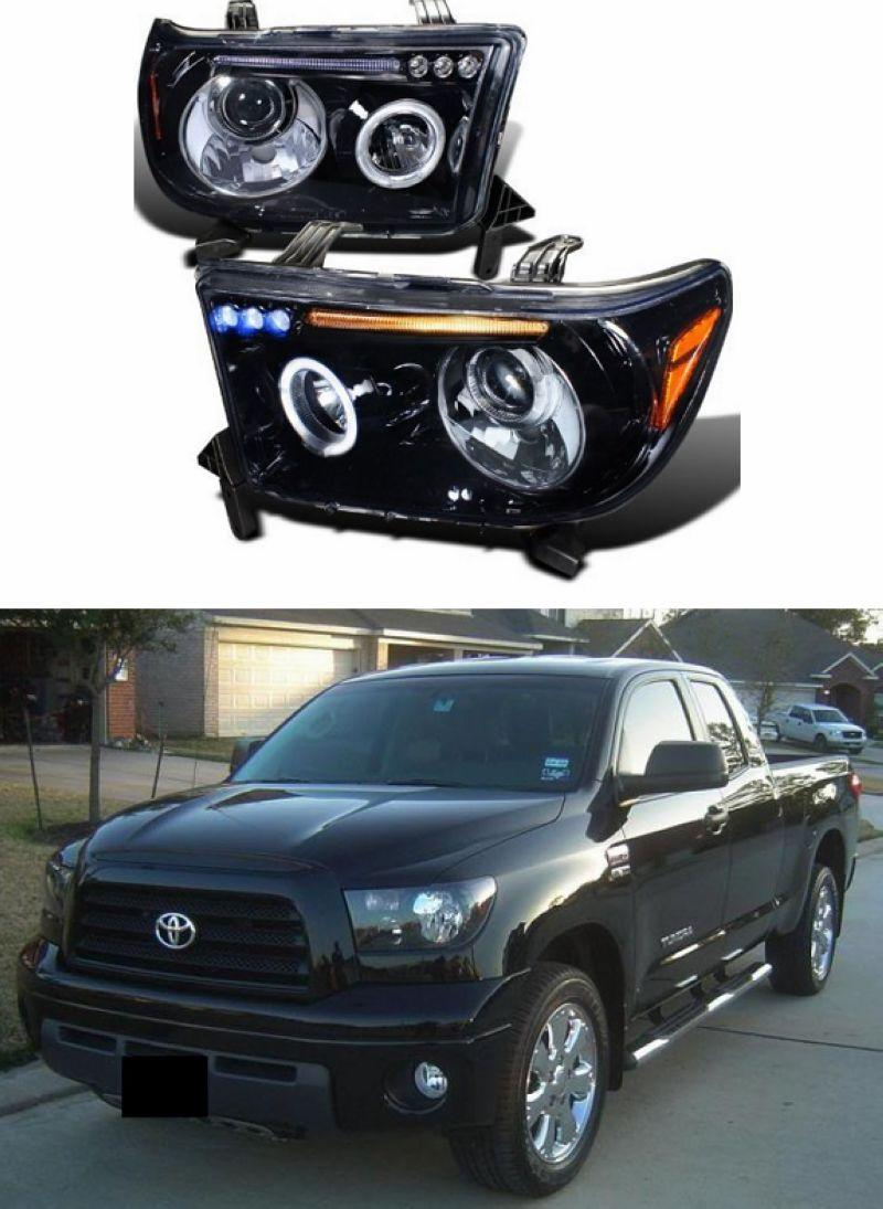 Toyota Tundra 07 LED Ring Projector Head Lamp + 3-LED Price per pair