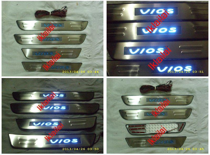 Toyota VIOS' 03 Door / Side Sill Plate With LED Light [4pcs/setToyota]