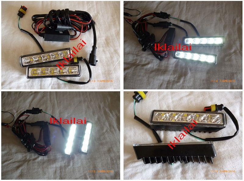 Toyota Vios '13-14 Front Bumper Fog Lamp LED Daylight DRL