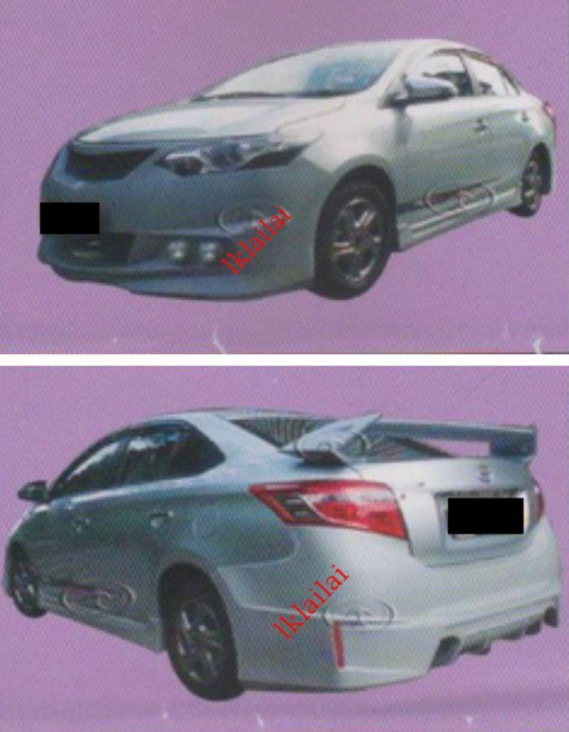 Toyota Vios '13-14 Galaxy-x Style Full Set Body Kit [Bumper/Spoiler]
