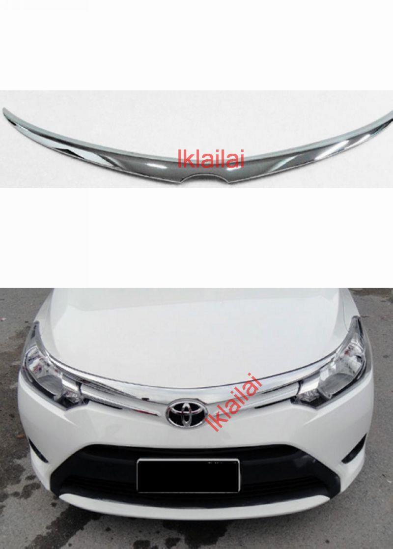 Toyota Vios '13 Front Lip Spoiler / Grille Cover [Chrome]
