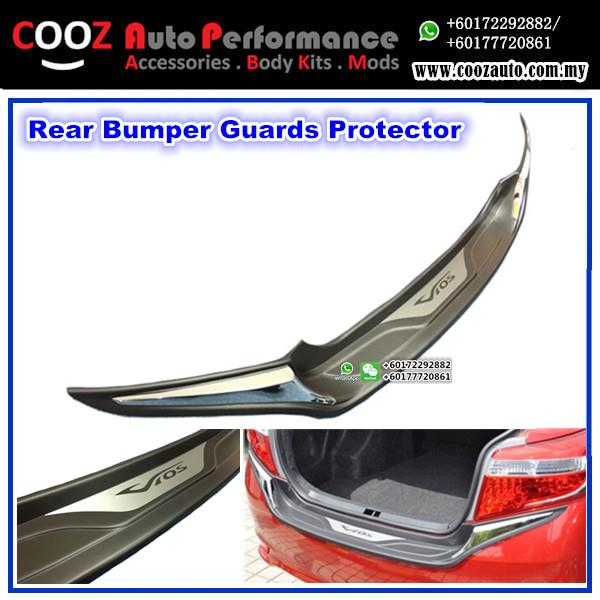 TOYOTA VIOS 2014-2016 Chrome ABS Rear Bumper Guards Protector