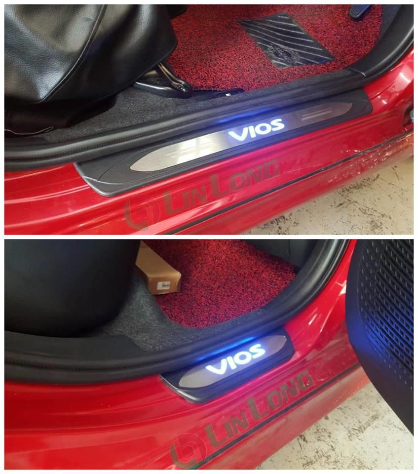 Toyota vios 2017 door step led light lamp plate